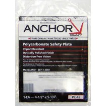 "Anchor 4-1/2"" X 5-1/4"" Polycarbonate Safety Plate"