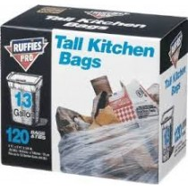 Berry Plastics 13G Ruffies Tall Kitchen Bag 64/BX