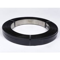 """1-1/4"""" X .029"""" Black Steel Strapping 100# Roll"""