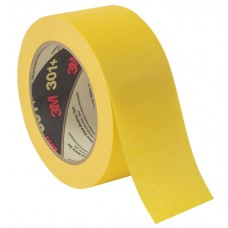 3M Performance Yellow Masking and Painter's Tape 301+, 48mm x 55m, 6.3 mil