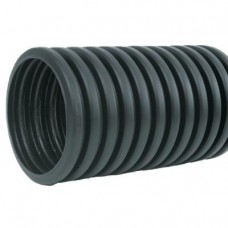 "4"" Heavy-Duty Corrugated Poly Drainage Tubing Solid"