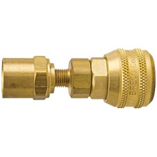 "Breco 1/4"" Coupler Brass x 5/8"" OD Sleeve Lock"