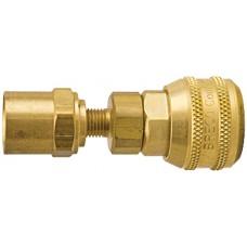 "Breco 3/8"" Coupler Brass x 5/8"" OD Sleeve Lock"