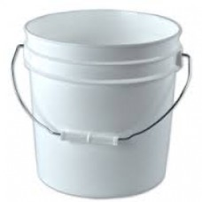 Bucket - White 2 Gallon Bucket w/Handle and no lid