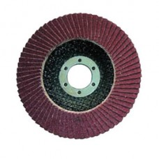 "Carb White Resin ZA T27 7"" x 5/8-11 Flap Disc 80G"