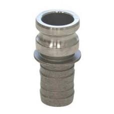 Aluminum Part E Adapter X Hose Shank Camlock 6