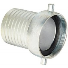 """1-1/2"""" Female Plated Steel Suction Hose Coupling"""