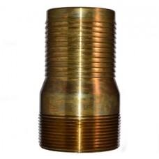 "1"" Threaded Combination Brass Nipple"