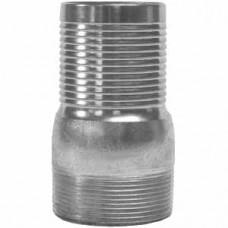 "1-1/2"" Threaded Combination Plated Steel Nipple"