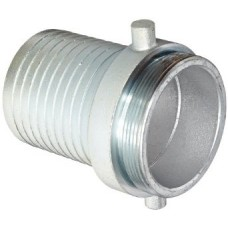 """2-1/2"""" Male Plated Steel Suction Hose Coupling"""