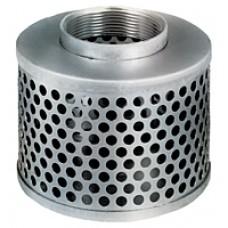 """1-1/2"""" NPSM Round Hole Steel Strainer"""