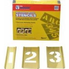 "3"" Interlocking Brass Stencil Pack - Numbers Only"