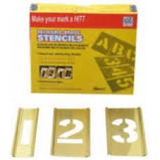 "2"" Interlocking Brass Stencil Pack - Letters Only"