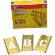 "3"" Interlocking Brass Stencil Pack - Letters 33 PC Set"