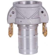 "ContiTech Insta-Lock 2"" Part C Female Coupler X Hose Shank Aluminum w/Brass Handles"