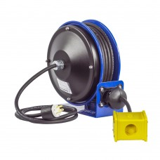 Coxreels PC10-3012-B Compact Spring Driven Cord Reel Quad Receptacle 12GAx30ft