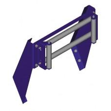 "Coxreels Top Rewind 4-Way Roller Bracket Assembly 24"""