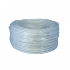 "Dixon 3/8"" ID X 5/8"" OD Clear Braided PVC Tubing IMP"