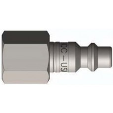 "DQC 1/2"" x 1/2"" FNPT Brass DF-Series Nipple"