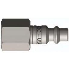 """DQC 1/2"""" x 1/2"""" FNPT Steel DF-Series Nipple"""