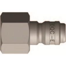 """DQC 1/4"""" x 1/4"""" FNPT Steel E-Series S.T. Nipple"""