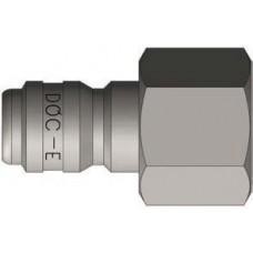 "DQC 3/8"" x 3/8"" FNPT 303 Stainless Steel E-Series Straight-Through Nipple"