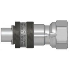 "DQC 1/2"" x 1/2"" FNPT Steel N-Series Bowes Nipple"