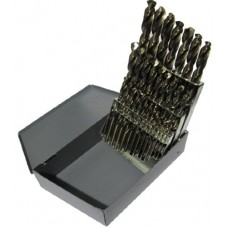 "1/16""-1/2"" X 1/64ths Cobalt Drill Jobbers Set 29PC"