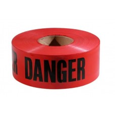 "Empire ""Danger Danger Danger"" Barricade Tape 3"" X 1000' Red"