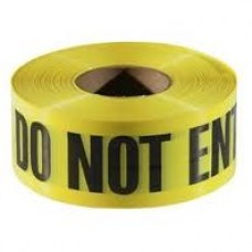 "Empire ""Caution Do Not Enter"" Barricade Tape 3"" X 1000' Yellow"