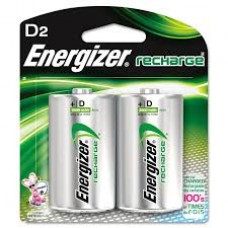 Energizer Rechargeable Battery - 2 Pack D