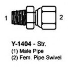 """1"""" MNPT X 1"""" FNPT HYDRAULIC ADAPTER - SWIVEL"""