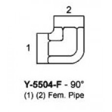 "1"" FNPT X 1"" FNPT HYDRAULIC ADAPTER - 90° ELBOW"