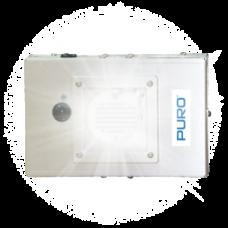 Puro Helo F1 Disinfecting Fixture Single UV Light Engine, 12.75 X 12.75 Flange , 6ft Plug, Manually or BACnet, 110V
