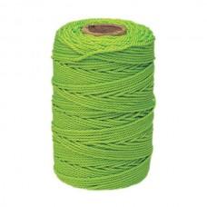 STRAIT-LINE 500 Fluorescent Green #18 Braided Nylon Twine