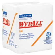 Kimberly Clark L40 1/4 Fold Wypall Wiper White 18pks/CS