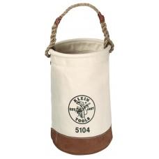 "Klein Canvas Bucket - 12"" X 17"" Long Leather Bottom"