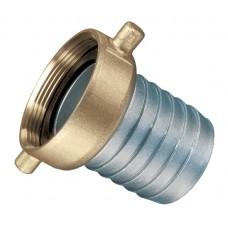 "Aluminum Pin Lug Female Coupling with Brass Swivel Nut (NPSM) 2"""