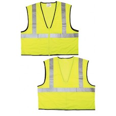 Fluorescent Lime Safety Vest Tear Away - Large
