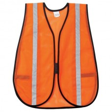 "GP Poly Orange Mesh Safety Vest 1"" Silver Stripe"