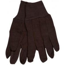 Memphis 100% Cotton Brown Jersey, Knit Wrist -Lg