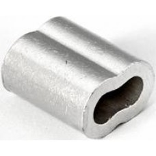 "1/8"" Aluminum Duplex Sleeve for Cable"