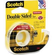 "3M Scotch Double Sided Tape 1/2""x 250"""