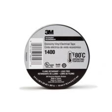 3M Economy Vinyl Electrical Tape 1400, 3/4' x 60 ft, Black