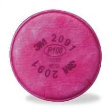 3M 2091 P100 Particulate Filter F/Oil/Non-Oil 2/PK