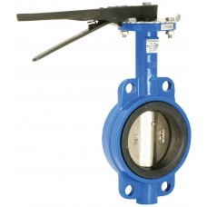 "Cast Iron Wafer Butterfly Valve 6"" 200 PSI Buna"