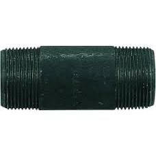 """1"""" X 3"""" Sch80 XHSMLS Black Nipple"""
