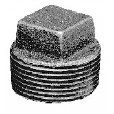 "1-1/4"" Blk 150# MI Plug Square Head"