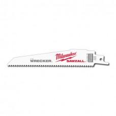 Milwaukee SUPER SAWZL Blade 8T 6LG WRECKER 5/PK