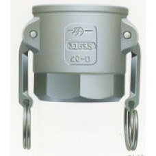Part D Coupler X Female NPT Alum W/SS Hand 6""